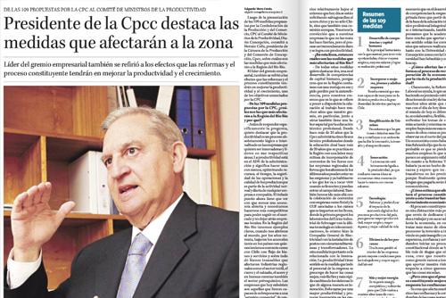 Presidente de la Cpcc destaca las medidas que afectarán a la zona