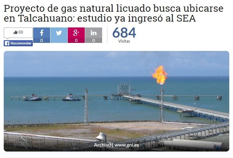 Proyecto de gas natural licuado busca ubicarse en Talcahuano: estudio ya ingresó al SEA