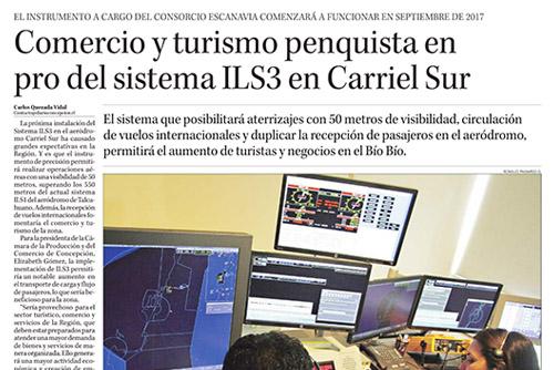 Comercio y turismo penquista en pro del sistema ILS3 en Carriel Sur
