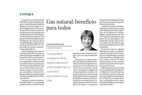 Gas Natural: beneficio para todos