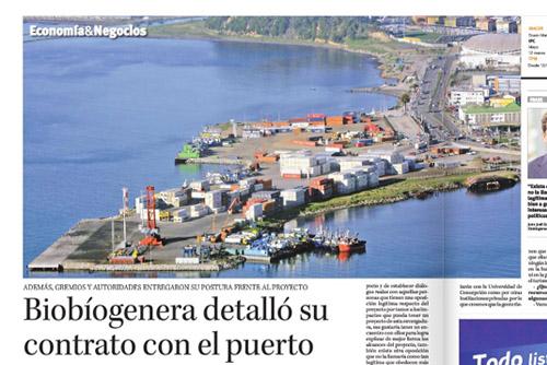 Biobiogenera detalló su contrato con el puerto