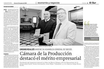 La Cámara de la Producción premia al mérito empresarial