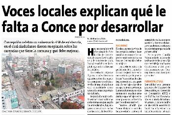 Voces locales explican que le falta a Concepción por desarrollar