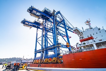 Puerto Coronel invierte US$30 millones en dos nuevas grúas